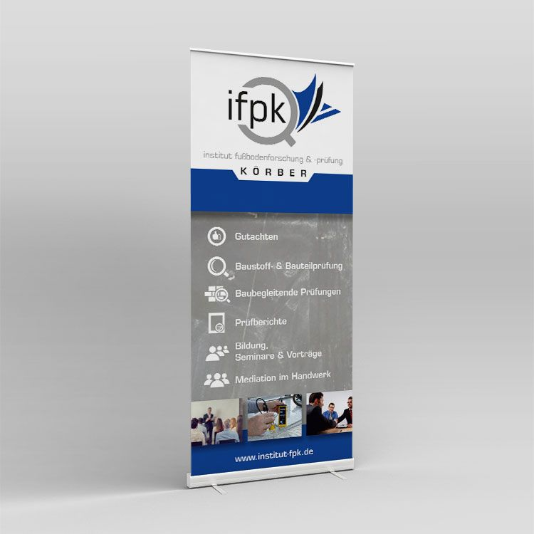IFPK Roll-up Display mit System